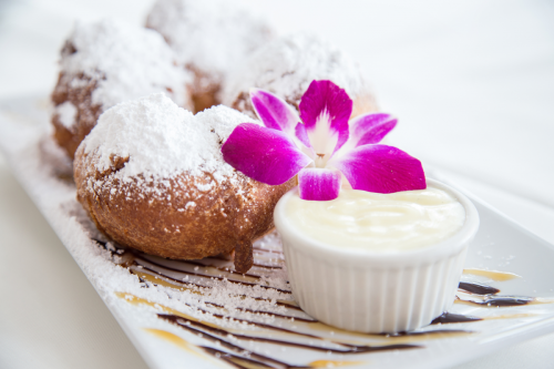 Beignets with Creme Anglaise